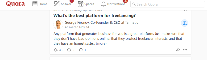 Quora Blog Post Ideas